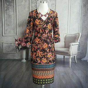 Beige by ECI Women's Dress Black Multi Size 10